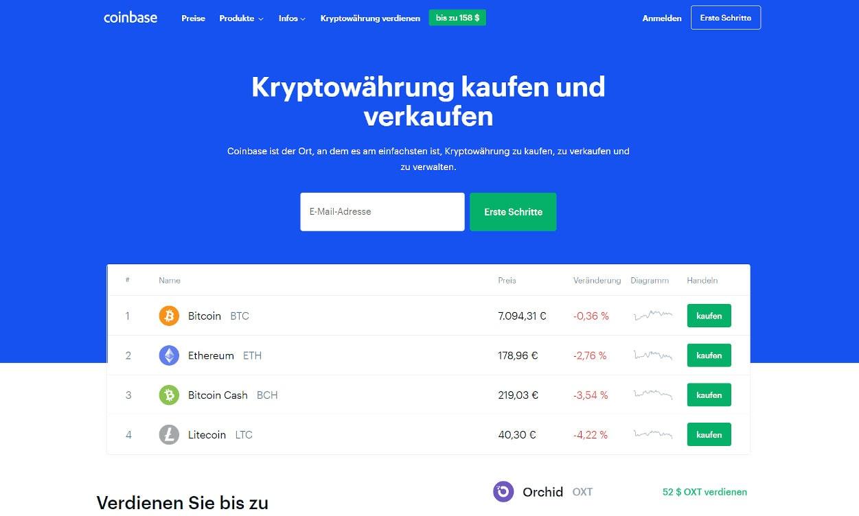 Coinbase Krypto Webseiten Test 2020.