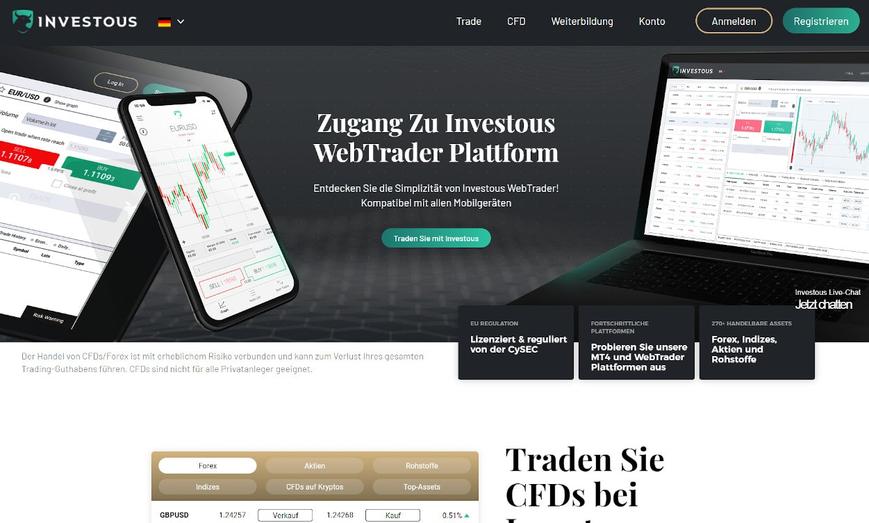 Investous Krypto Webseiten Test 2020.