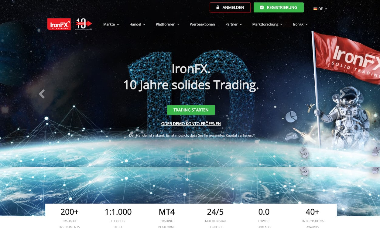 IronFX Krypto Webseiten Test 2020.