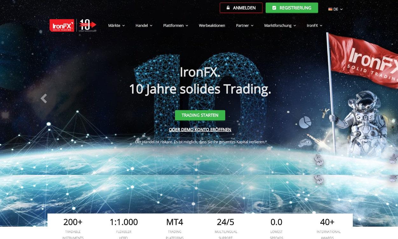 IronFX Krypto Webseiten Test 2020.