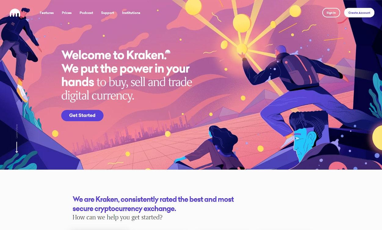Kraken Krypto Webseiten Test 2020.