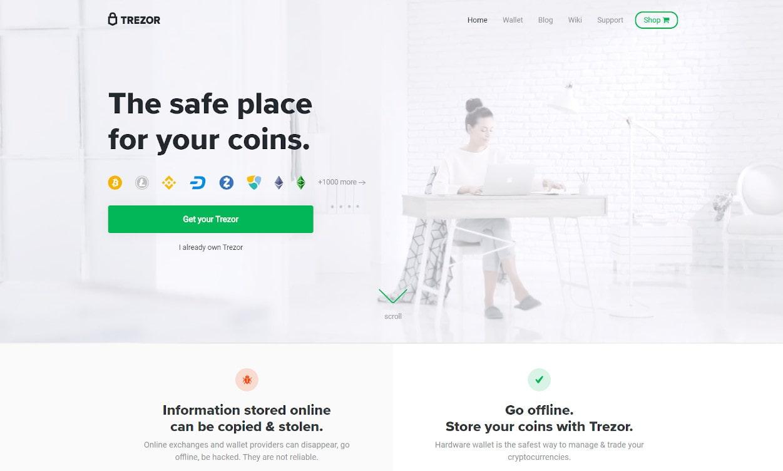 Trezor Krypto Webseiten Test 2020.